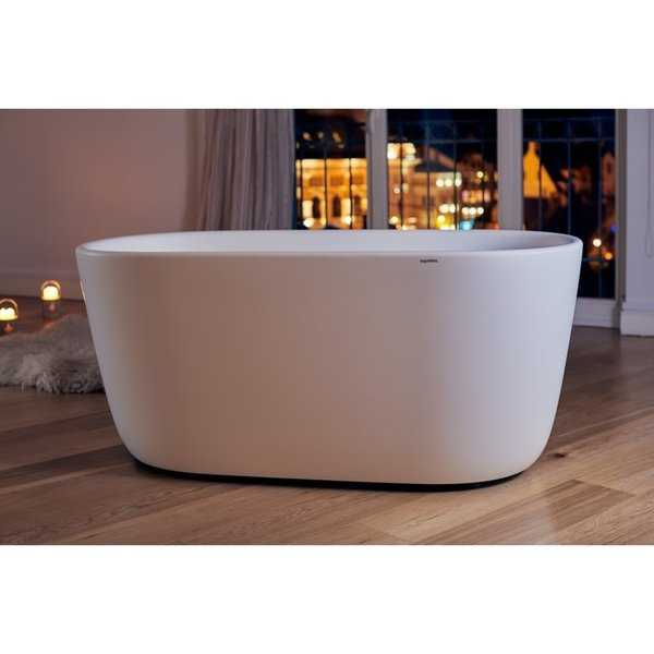 Aquatica Lullaby-Mini White Freestanding Solid Surface Bathtub