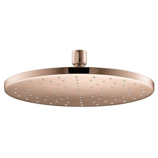 Kohler K-13689 Contemporary 10' Round 2.5 GPM Rainhead with Katalyst Air-Induction Spray Technology