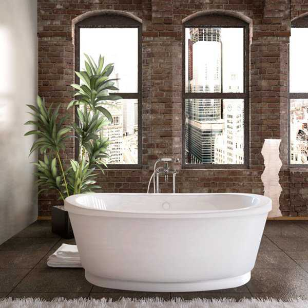 Atlantis Whirlpools Allure 36 x 66 Freestanding Soaker Bathtub in White