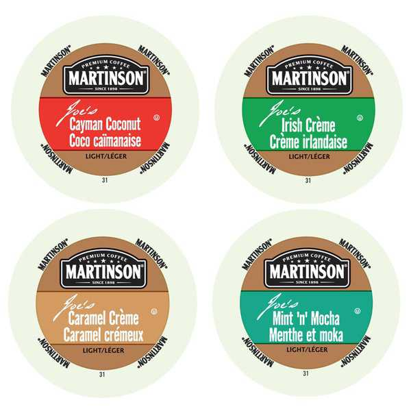 Martinson Flavored Collection of Coffees, The Right Pack to Discover Exotic and Tropical Tastes in Your Coffee, 96 Count