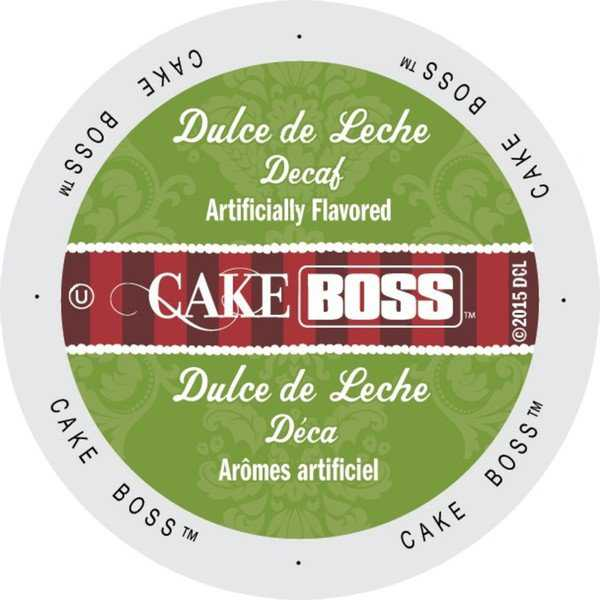 Cake Boss Coffee Dulce De Leche Decaf, Single Serve Cups for Keurig Brewers 24 Count