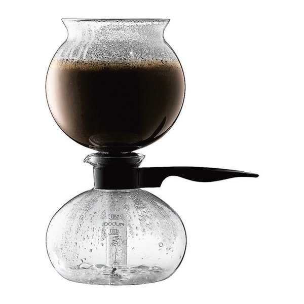 Bodum PEBO Coffee Maker, Vacuum Coffee Maker, Siphon Coffee Brewer,Slow Brew, 34oz, 1 L, 8 Cup