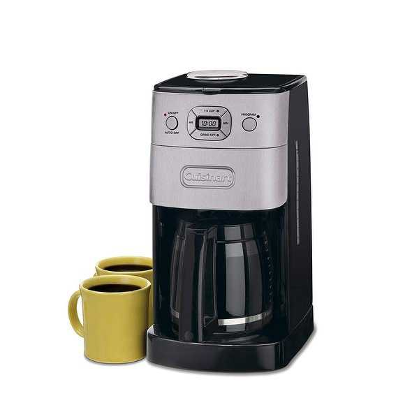 Cuisinart DGB-625BCFR Grind-and-Brew 12-Cup Automatic Coffeemaker, Brushed Metal, Certified Refurbished